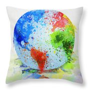 Globe Painting Throw Pillow