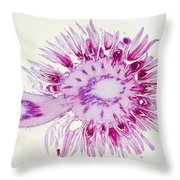 Globe Thistle Flower Lm Throw Pillow