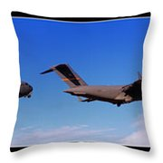 Globemaster Flyby Throw Pillow