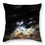 Glorious Gibbous - Wide Version Throw Pillow