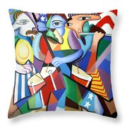 Glory Glory Throw Pillow by Anthony Falbo