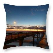Glow On The Horizon Throw Pillow