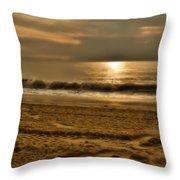 Glowin' Ocean Throw Pillow