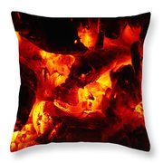 Glowing Ashes Throw Pillow