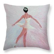 Glowing Ballerina Original Palette Knife  Throw Pillow