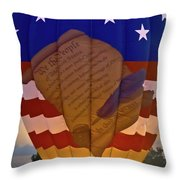 Glowing Constitution Throw Pillow