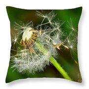 Glowing Dandelion Spores Throw Pillow