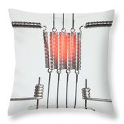 Glowing Filament 2 Of 4 Throw Pillow