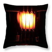 Glowing Filament 3 Of 3 Throw Pillow
