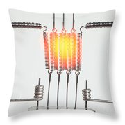 Glowing Filament 3 Of 4 Throw Pillow