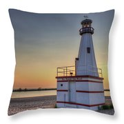 Glowing In The Background Throw Pillow