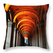 Glowing Iteration Throw Pillow by Andrew Paranavitana