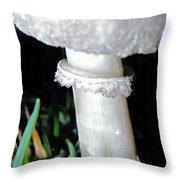 Glowing Mushroom Throw Pillow