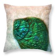 Glowing Seashell Throw Pillow