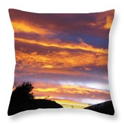 Purple Dusk Throw Pillow