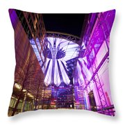 Glowing Sony Center Throw Pillow