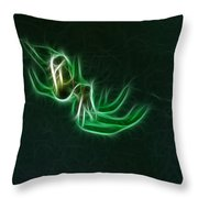 Glowing Spider Throw Pillow