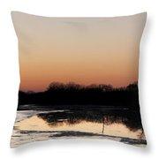 Glowing Sunset Throw Pillow