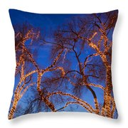 Glowing Trees Throw Pillow