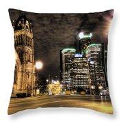 Gm Building Detroit Mi Throw Pillow
