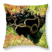 Gnarly Autumn Beauty Throw Pillow