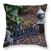 Gnomes At Home Throw Pillow