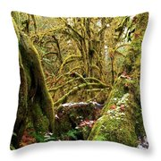 Gnomes In The Rainforest Throw Pillow