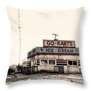 Go-karts - Wildwood New Jersey Throw Pillow