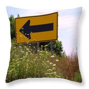 Go Left Throw Pillow