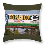 Go Pack Go Throw Pillow