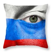 Go Russia Throw Pillow