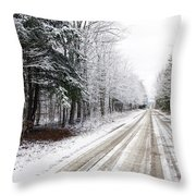 Go The Distance Throw Pillow