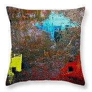 Goan Colorful Soil Throw Pillow