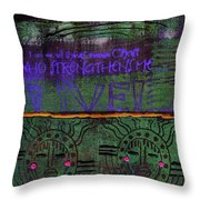 God Grants Us Immeasurable Strength Throw Pillow