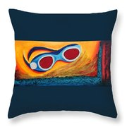 Goggles In The Sand Throw Pillow