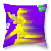 Going For The Gold Throw Pillow