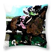 Going For The Win Throw Pillow