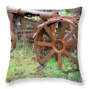 Going Green With Fordson  Throw Pillow by Pamela Patch