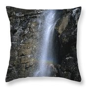 Going To The Sun Road Waterfall Throw Pillow