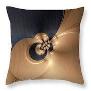 Gold And Indigo Throw Pillow