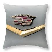 Gold Badge Cadillac Throw Pillow