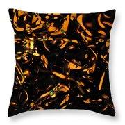 Gold Bokeh Lights Abstract Throw Pillow