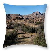 Gold Butte Tumbling Terrain  Throw Pillow