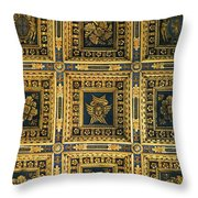 Gold Cathedral Ceiling Italy Throw Pillow