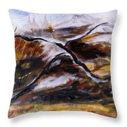 Gold Country Throw Pillow