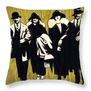 Gold Couples Throw Pillow