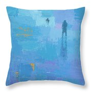 Gold In Blue Throw Pillow
