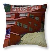 Gold In Them Thar Hills Throw Pillow