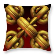 Gold One Throw Pillow