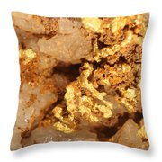 Gold Ore Throw Pillow